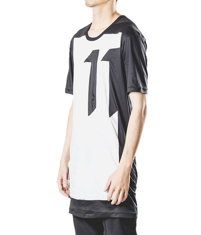 Contrast Front Panel T-Shirt