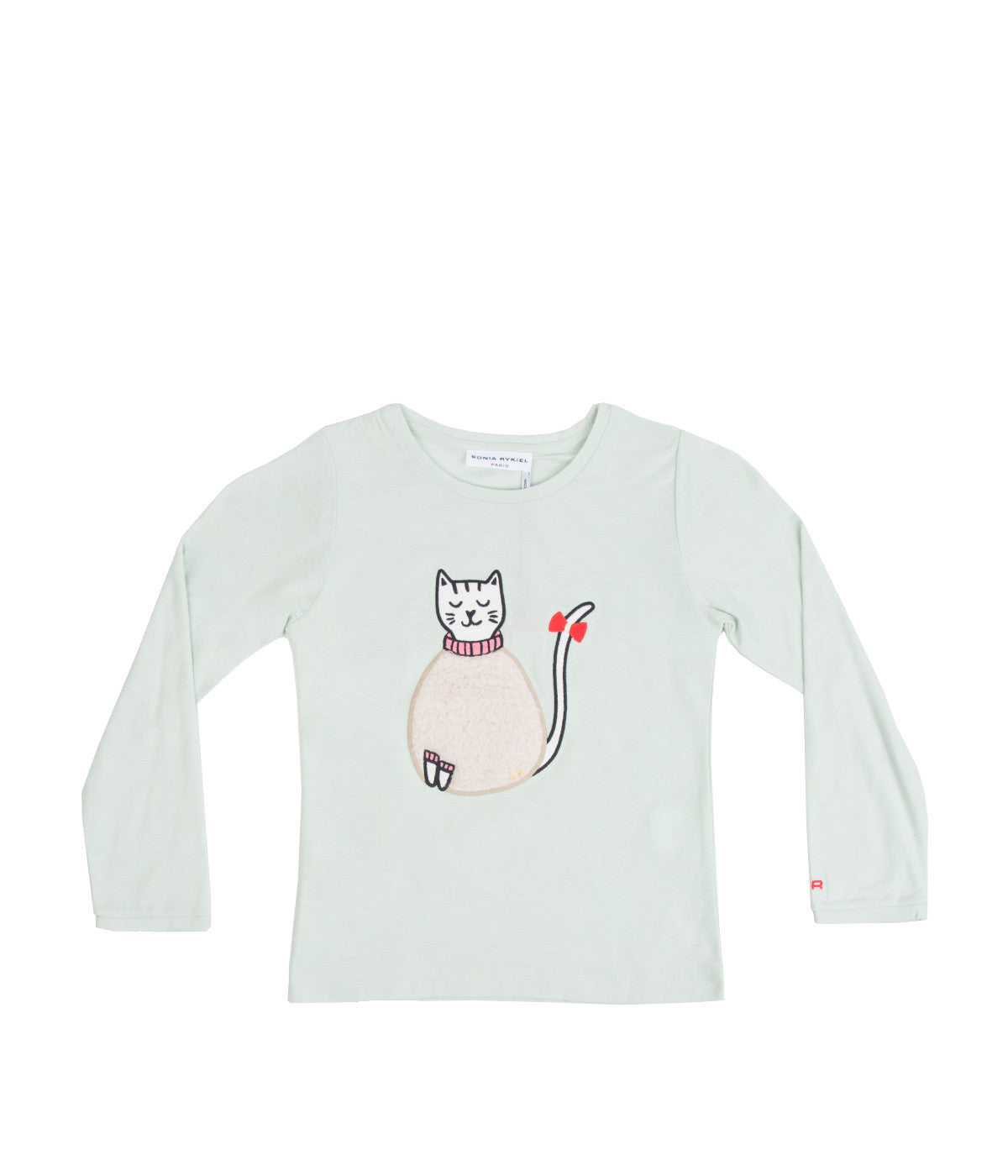 Long Sleeve Mint Cat T-Shirt