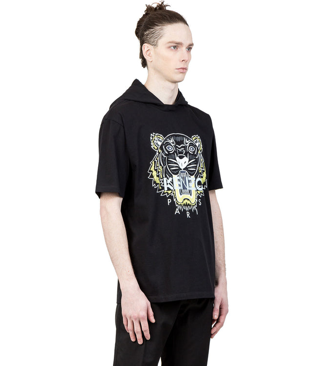 Black Tiger Hooded T-Shirt