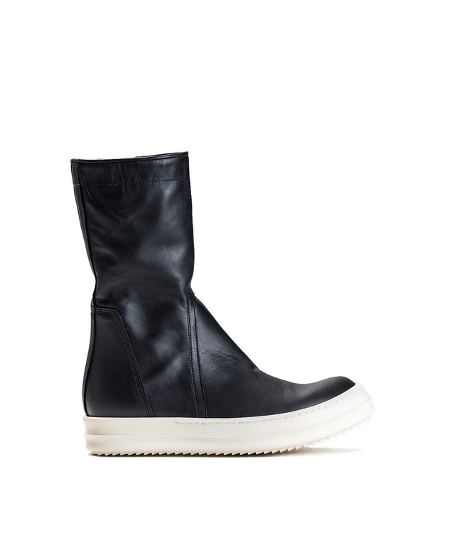 Creeper Black Soft Leather Sneaker Boots