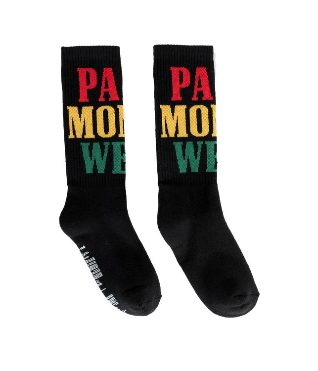 Black Palm Money Weed Socks