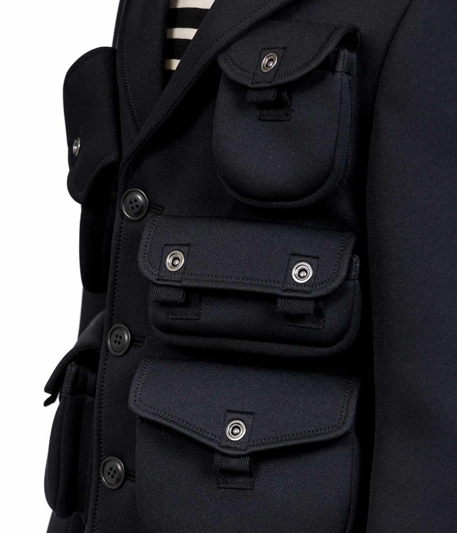 Black Military Pocket Jacket