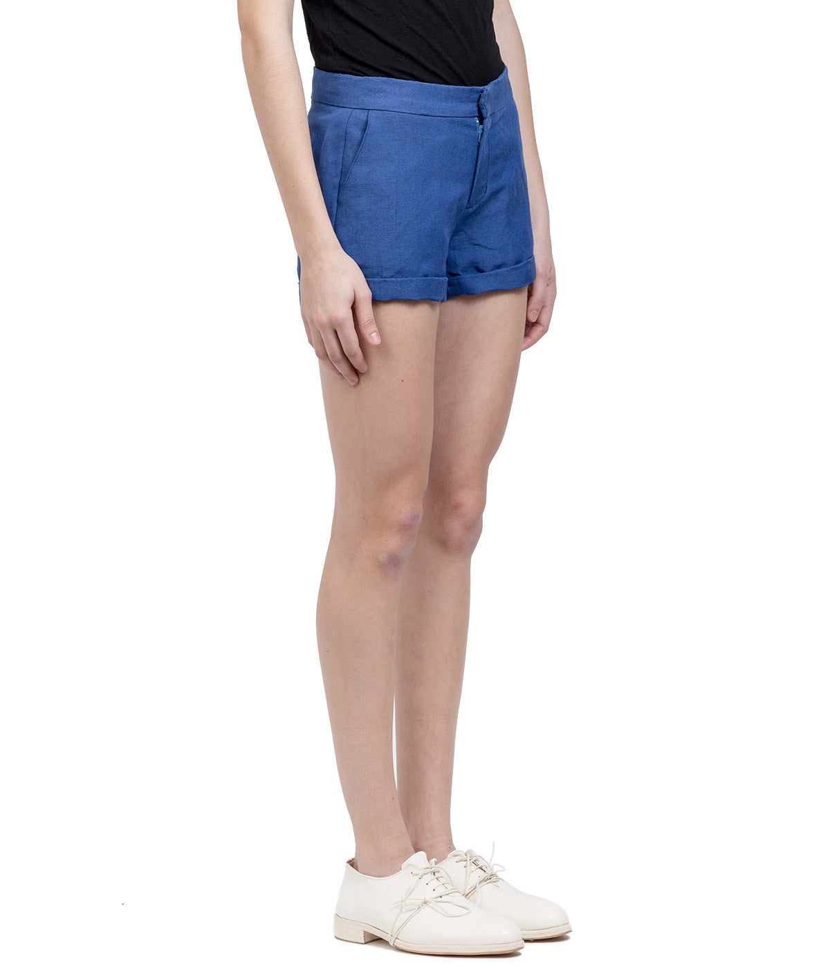 Blue Hemp Shorts