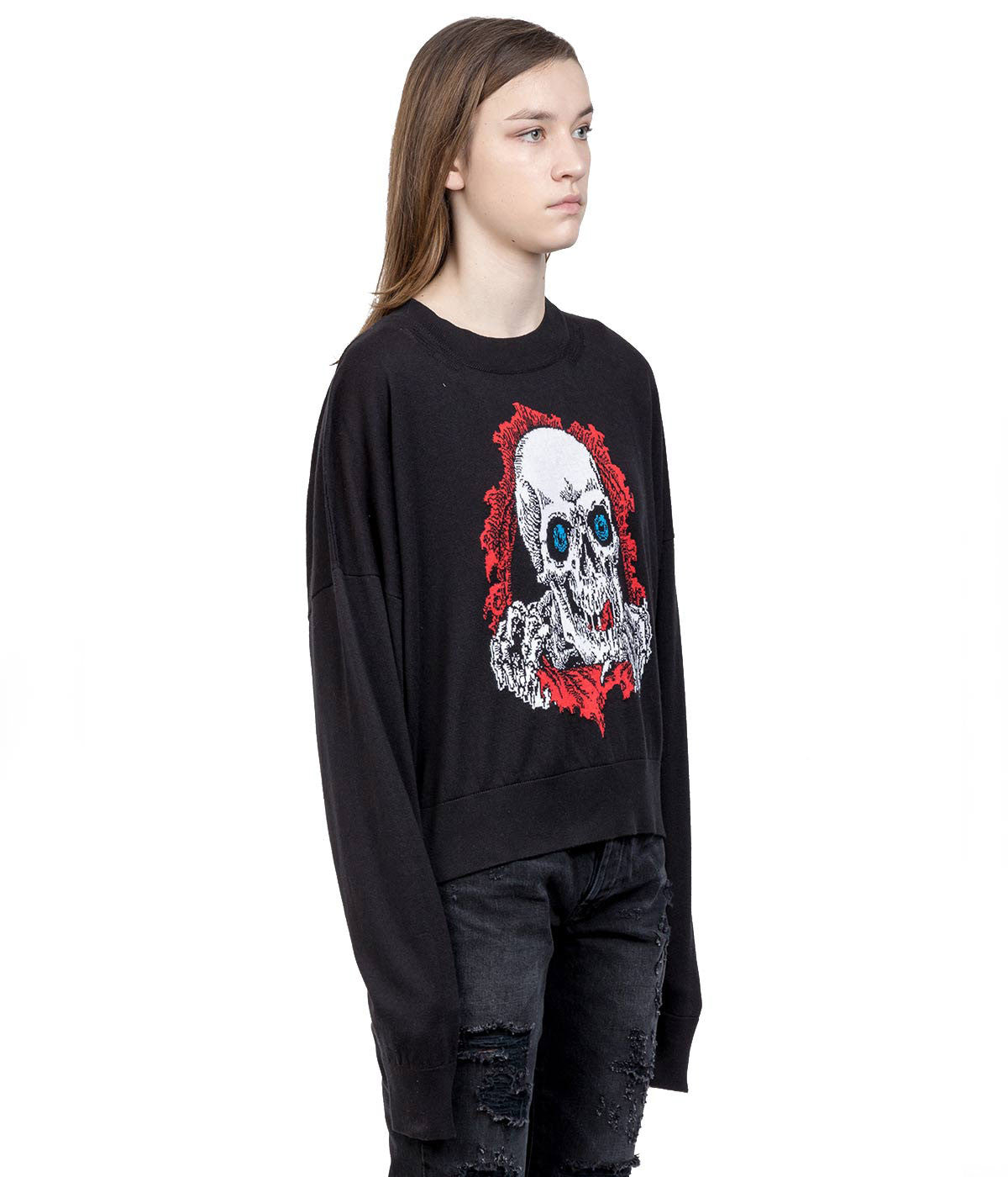 Black Skull Cashmere Sweater