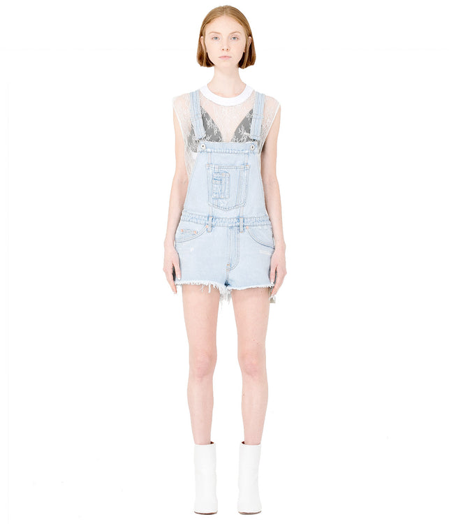 Light Blue Denim Romper