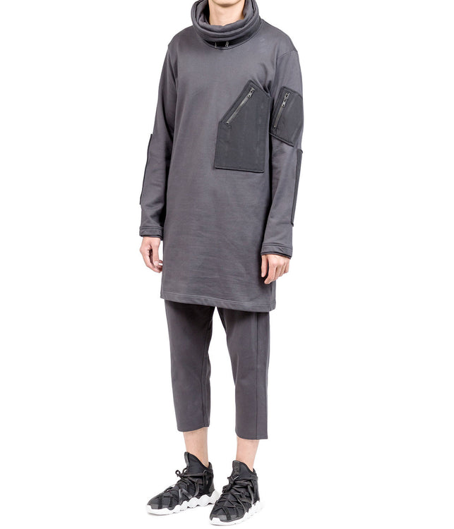 Carbon Black Turtleneck T-shirt