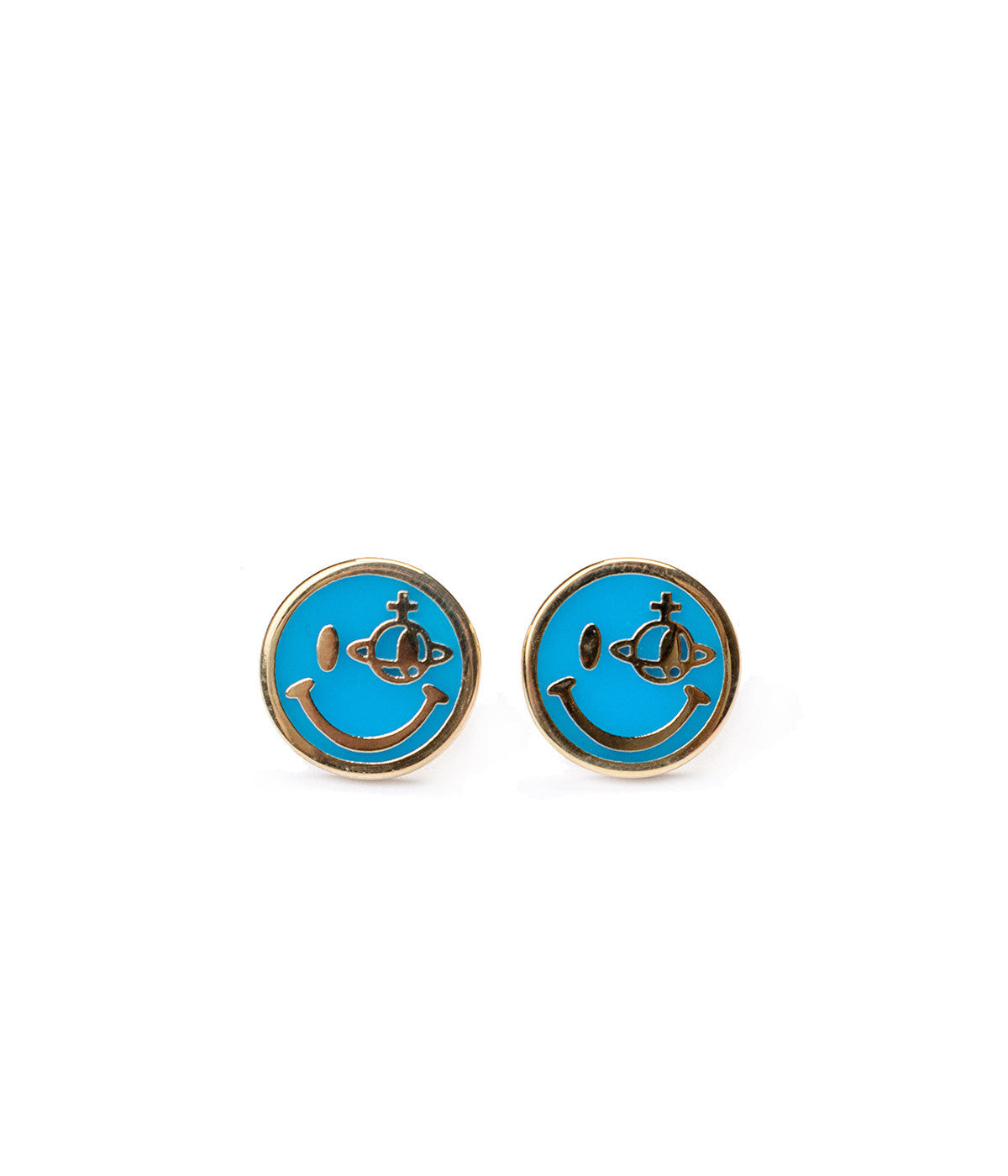 Smile Orb Stud Earrings