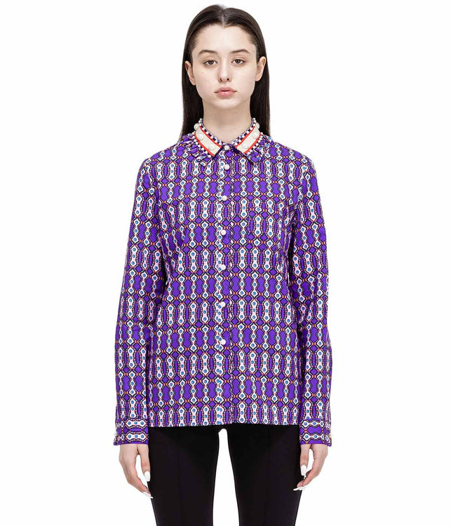 Purple Pearl Embellished Shirt