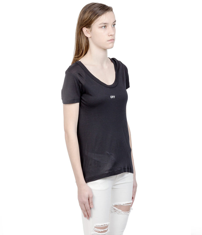 Black Scooped T-Shirt