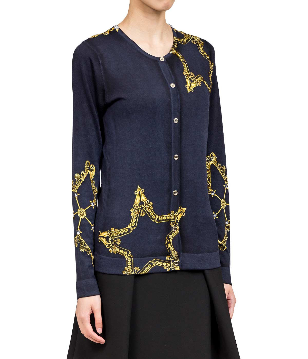 Blue Star Print Cardigan