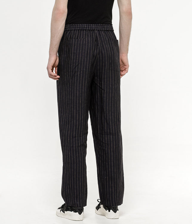 Navy Drawstring Trousers