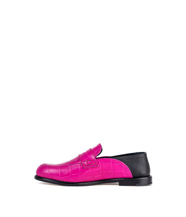 Pink Collapsable Slip On Loafers