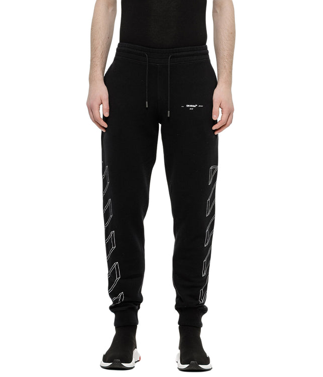 Black 3D Line Sweatpants