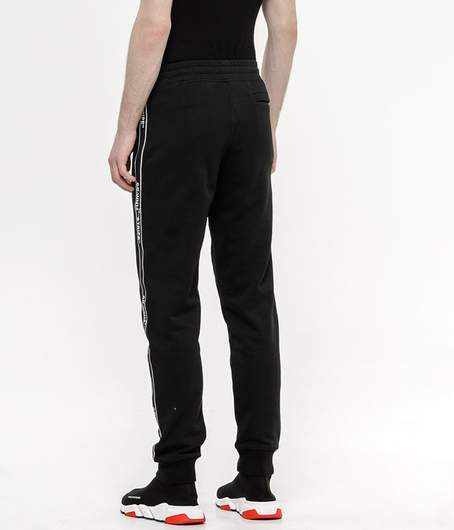 Black Stripe Sweatpants