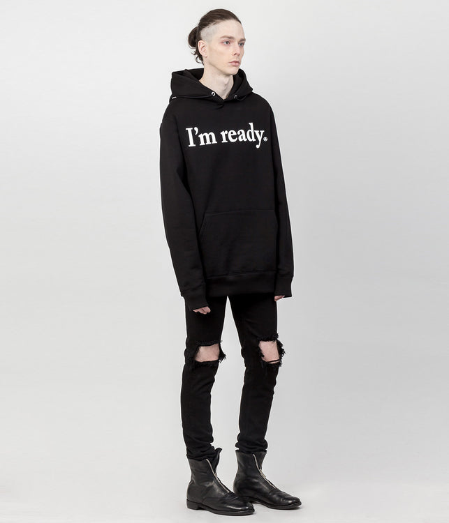 Black 'I'm Ready' Pullover Hoodie