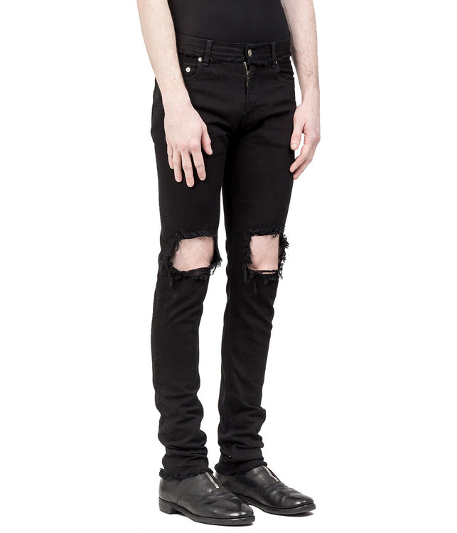 Black Skinny Distressed Jeans