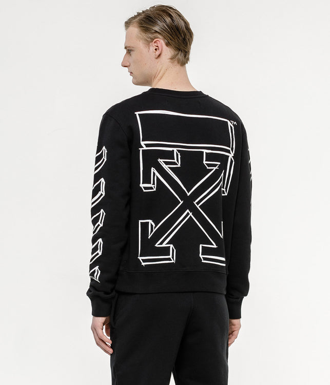 Black Marker Arrows Crewneck