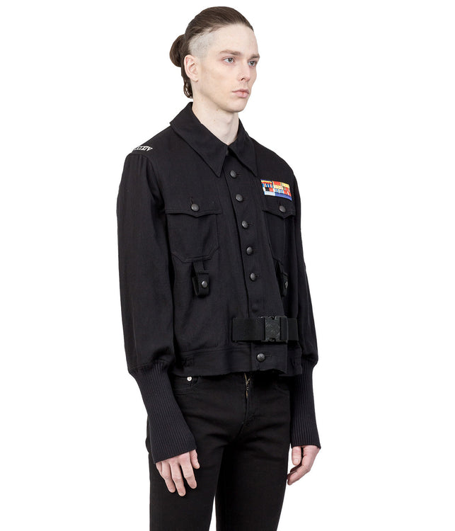 Black Oversized Kersey Jacket