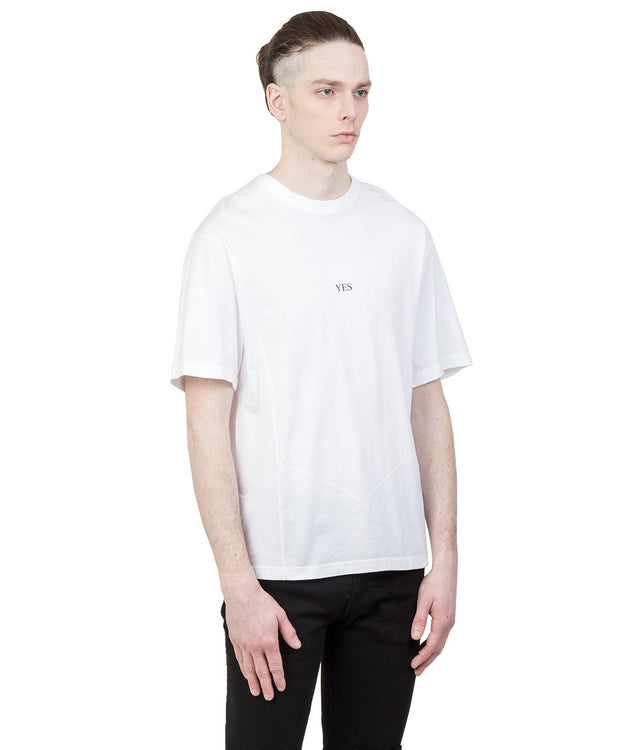 White Seam Line T-Shirt