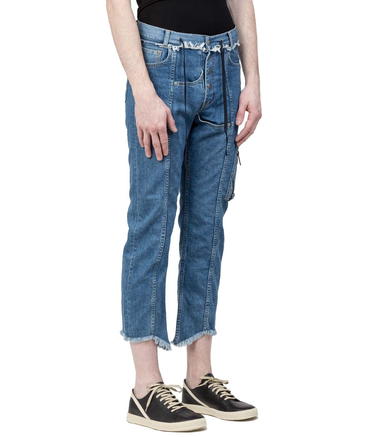 Light Blue Denim Straight 8/10 Jeans