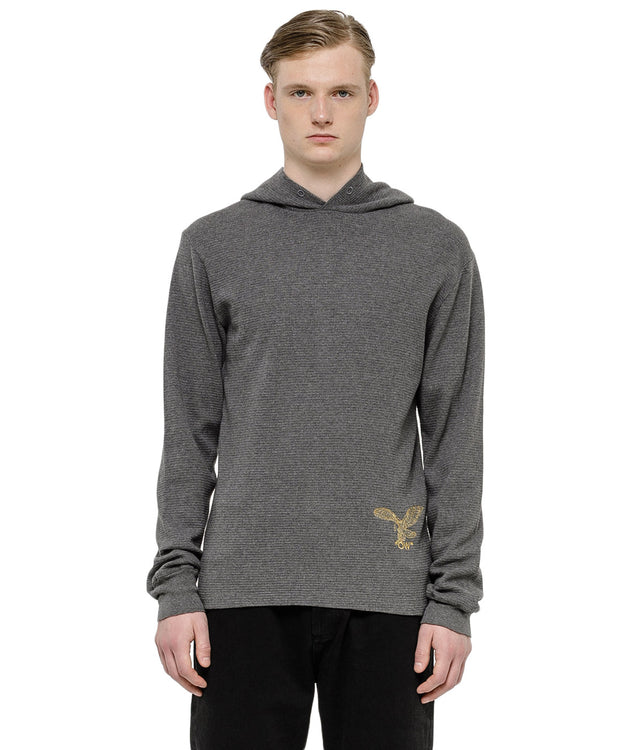 Grey Logo Hooded T-Shirt