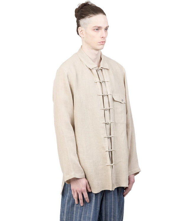 Ivory Beige Double Layered Shirt