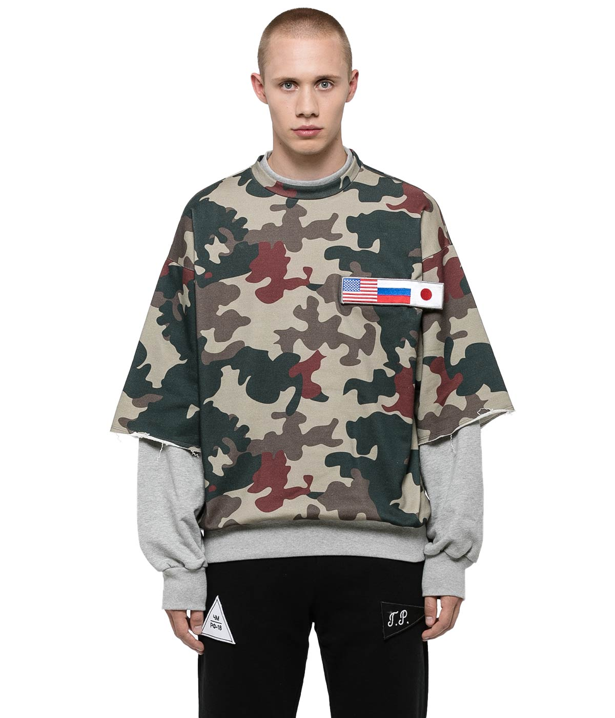 Camo Double Sleeve Sweatshirt