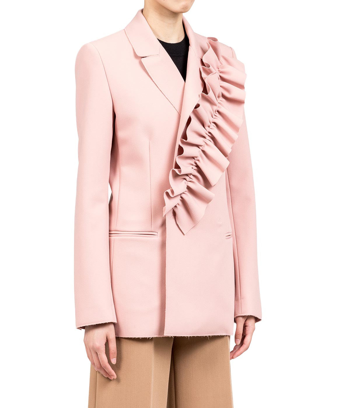 Pink Ruffle Detail Jacket