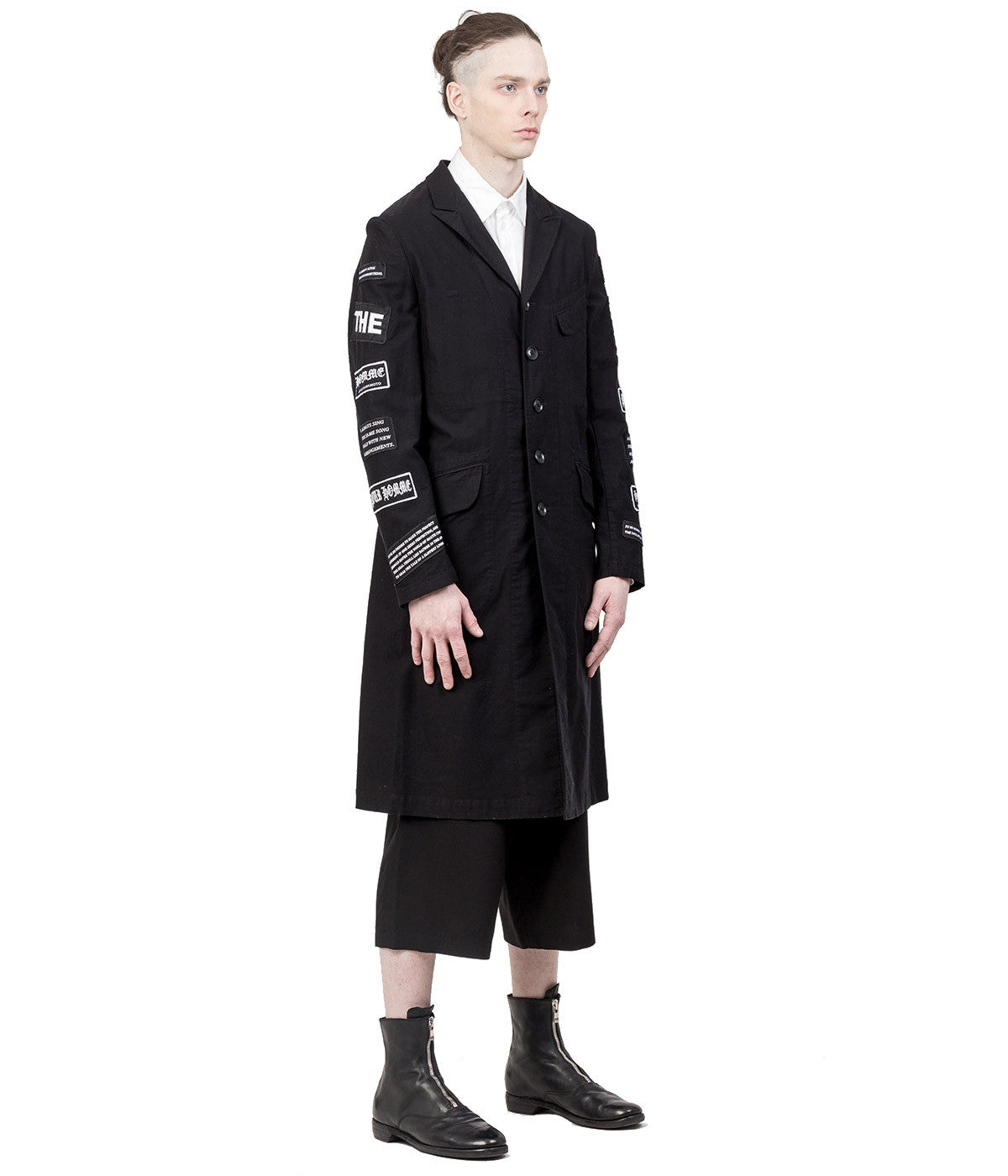 Black Logo Patch Coat