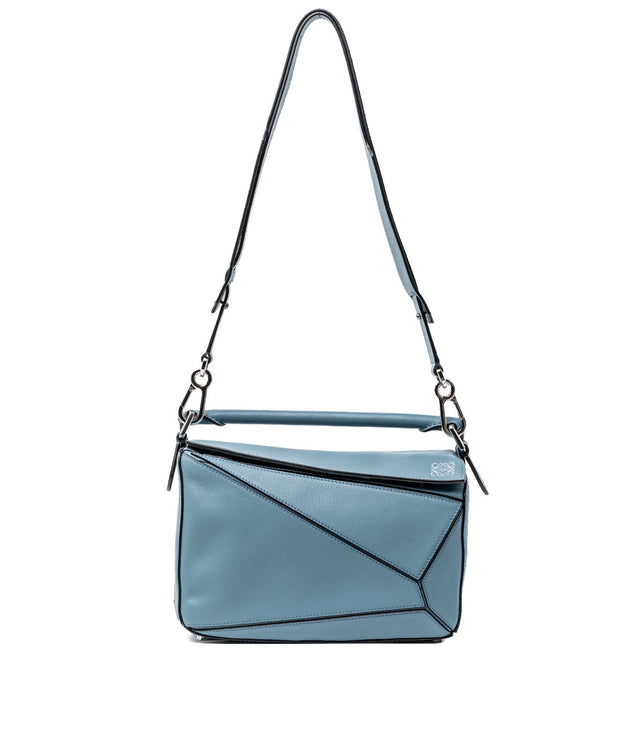Stone Blue Small Puzzle Bag