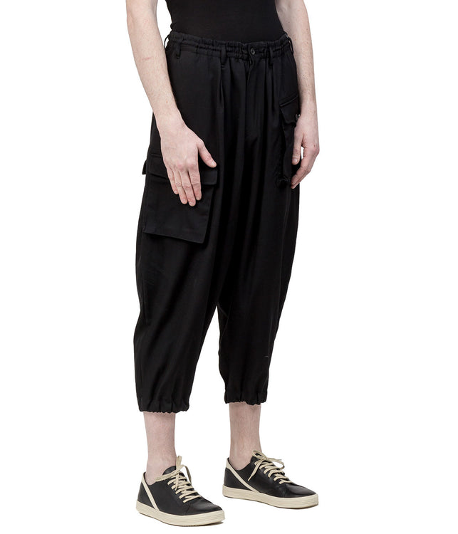 Black W-Side Cargo Pocket Pants