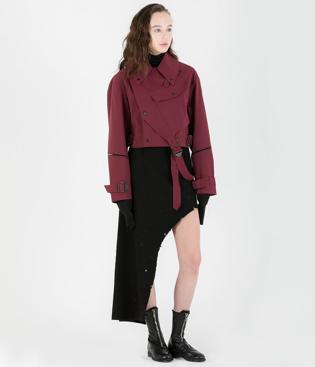 Red Cropped KTC Jacket