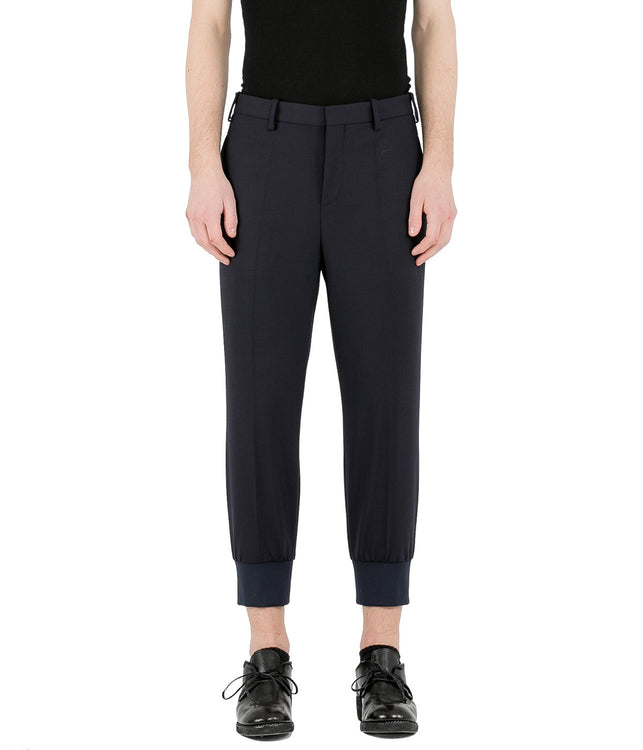 Dark Navy Rib Cuff Pants