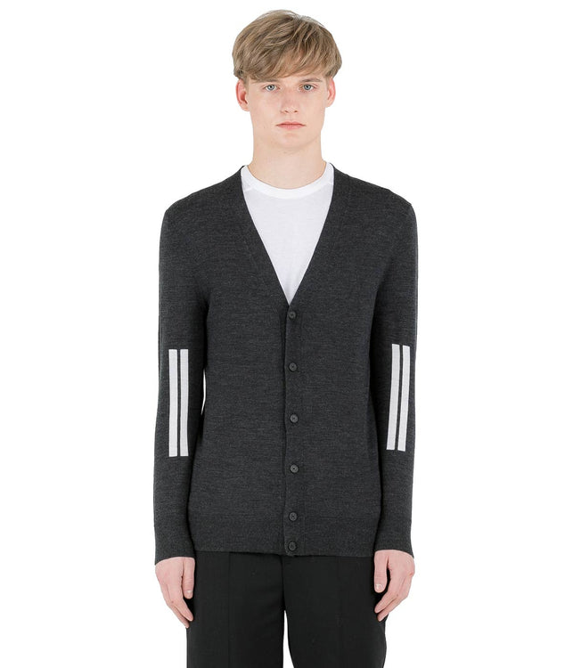 Dark Grey Wool Cardigan