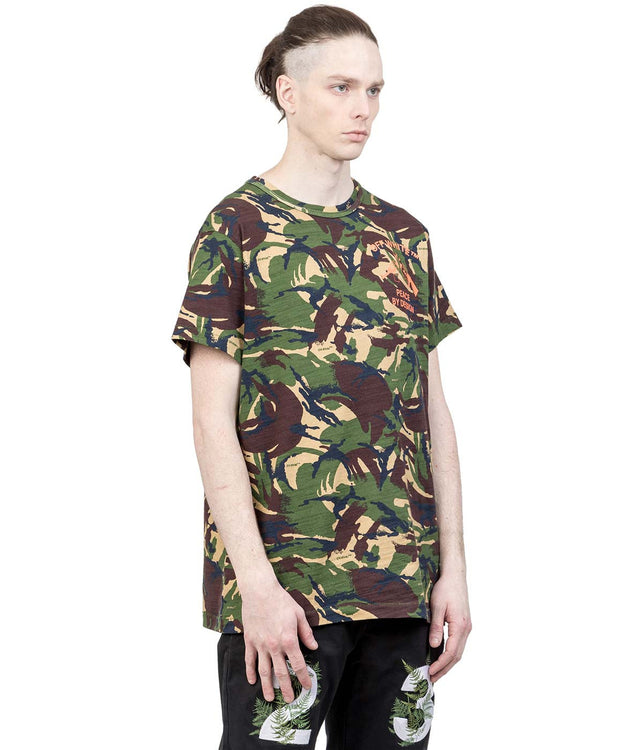 Green Camouflage Pique T-Shirt