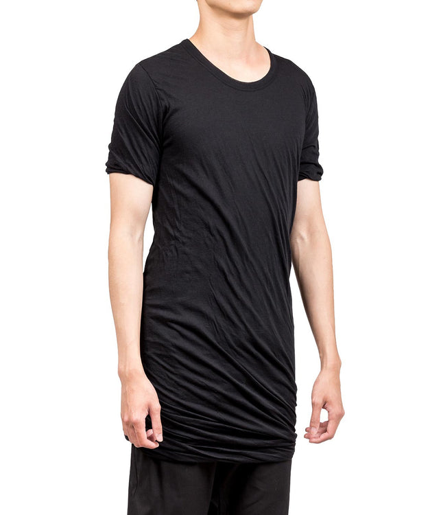 Black Double Layer Long T-shirt