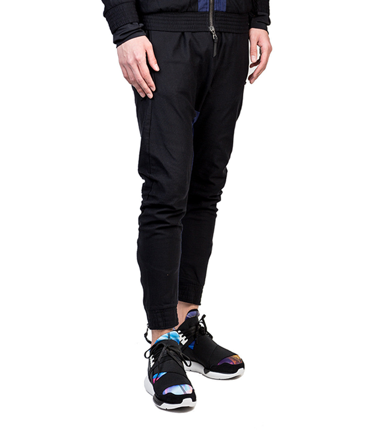 Textured Dropped Crotch Sweatpants