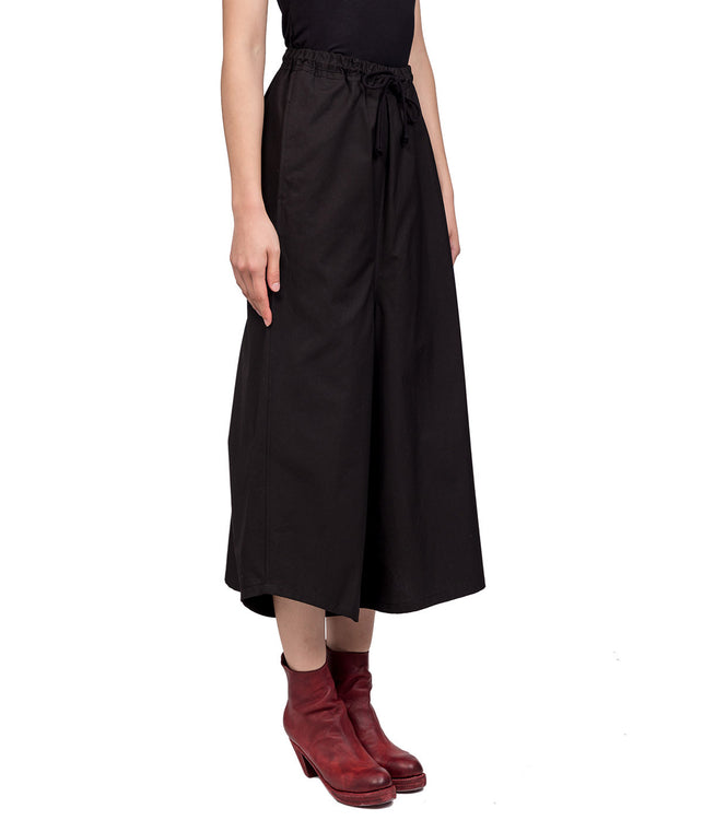 Black Oversized Asymmetrical Trousers