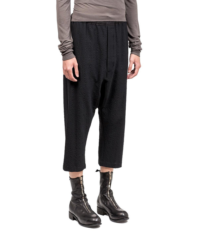 Black  Dropped Crotch Pants