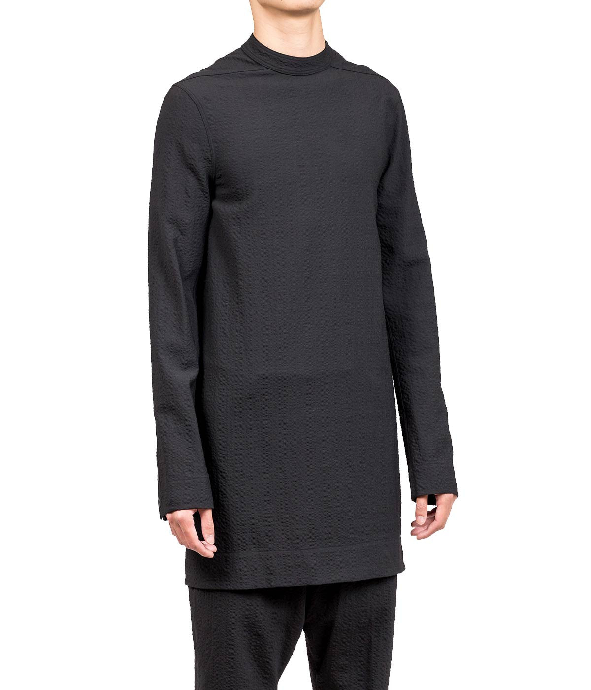 Black Creased Long Sleeve T-Shirt