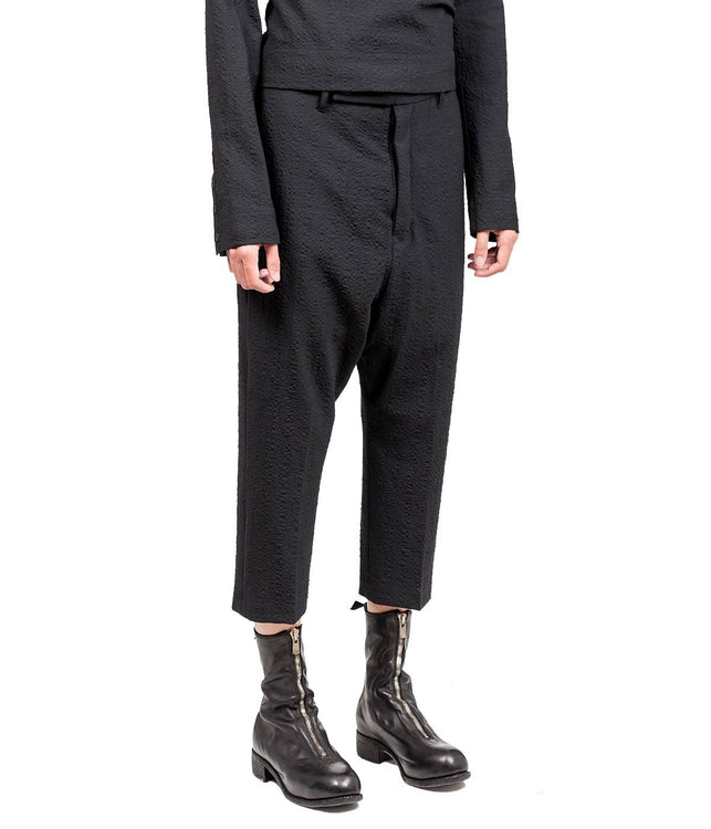 Black Creased Tailored Pants
