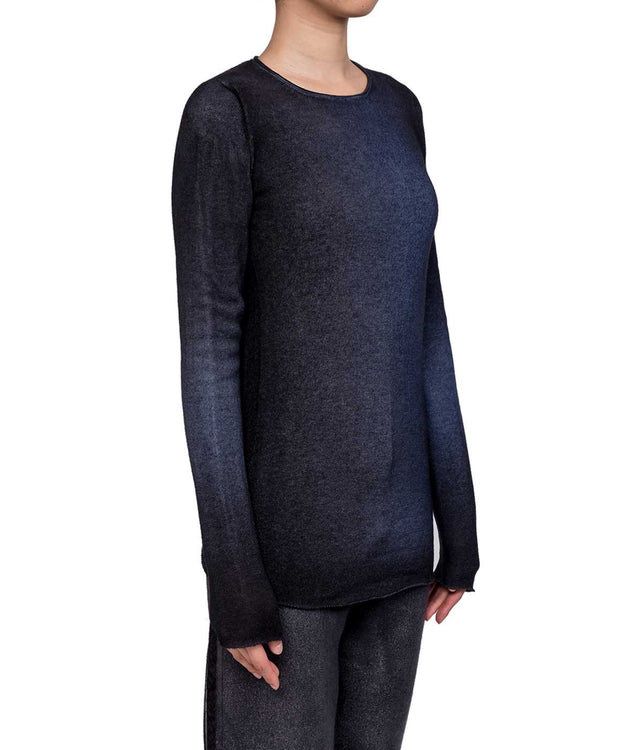 Mixed Indigo Cashmere Lightweight Sweater