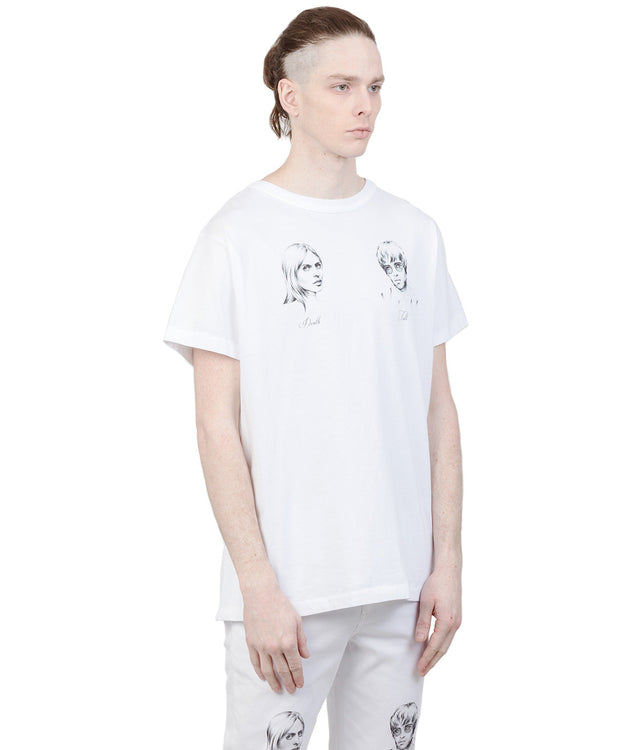White Illustrated T-Shirt