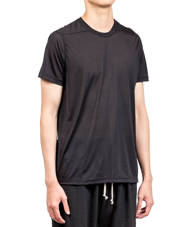 Black Plain Silk T-shirt
