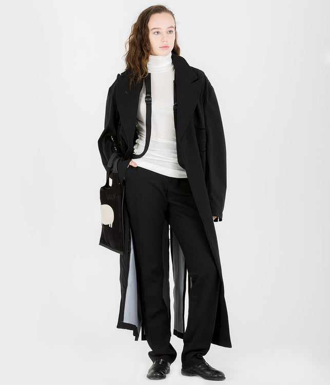 Black Stapled KTC Coat