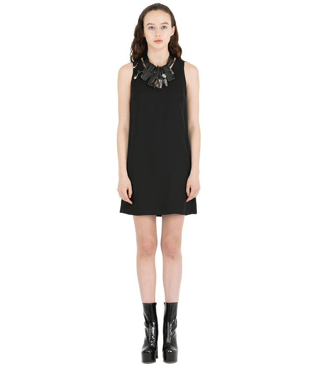 Black Woven Safety Pin Dress