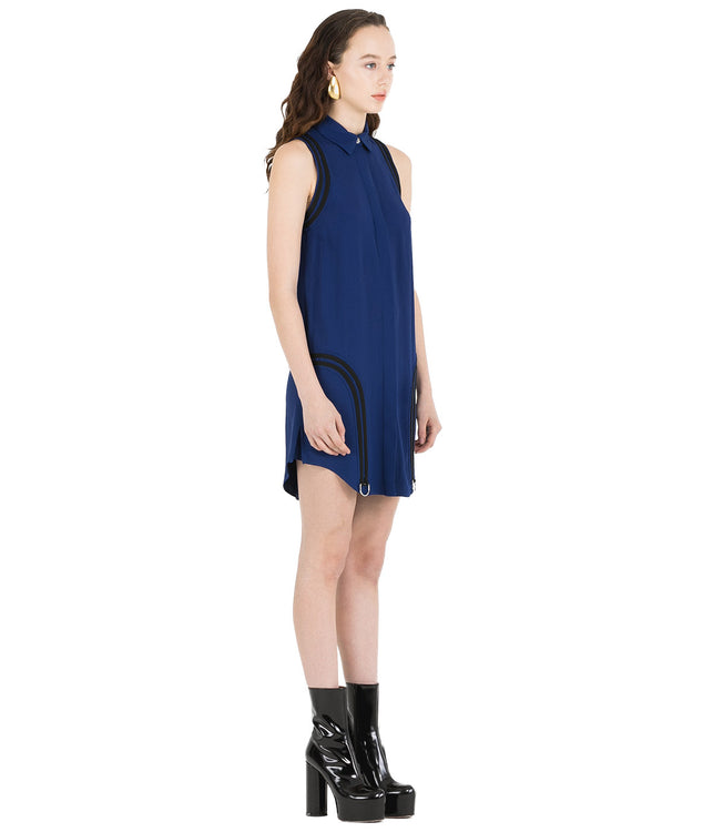 Blue Woven D-Ring Dress
