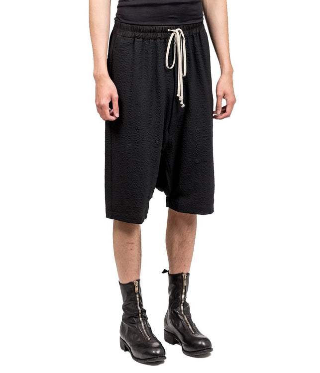 Black Dropped Crotch Culottes