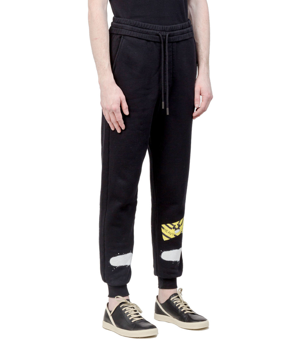 Black Spray Painted Sweatpants