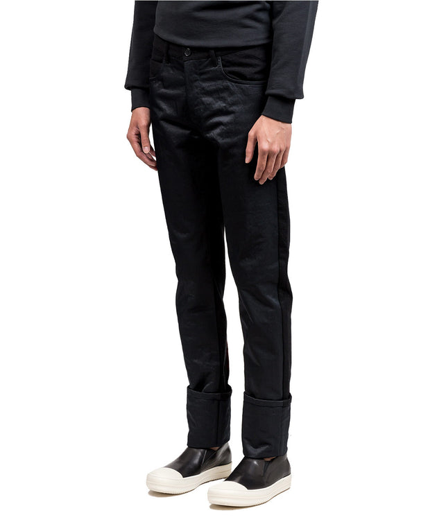Black Contrast Trousers